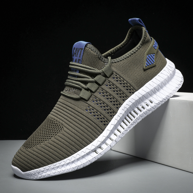 HUCDML Big Size Sneakers Shoes for Men Lightweight Breathable Running Walking Male Footwear Soft Sole Lace-up Scarpe Uomo 1