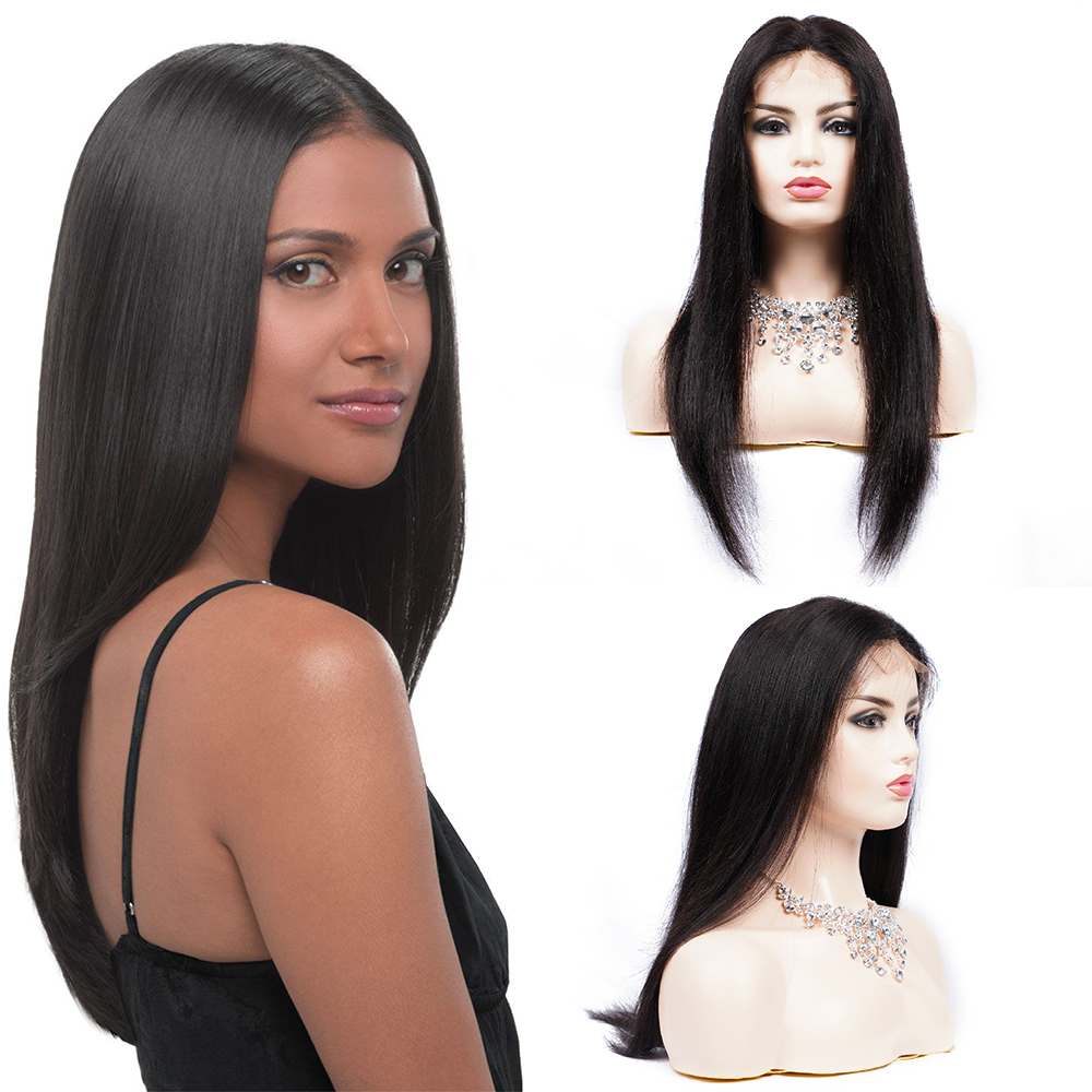 Brazilian Wig 13*4 Straight Lace Front Human Hair Wigs For Black Women Remy Hair Lace Front Wigs Pre Plucked Brenda Hair