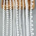 Высокое качество 5 ярдов/рулон белая хлопковая одежда с вышивкой с кружевными лентами ткань планки DIY украшения для пошива одежды материалы ...