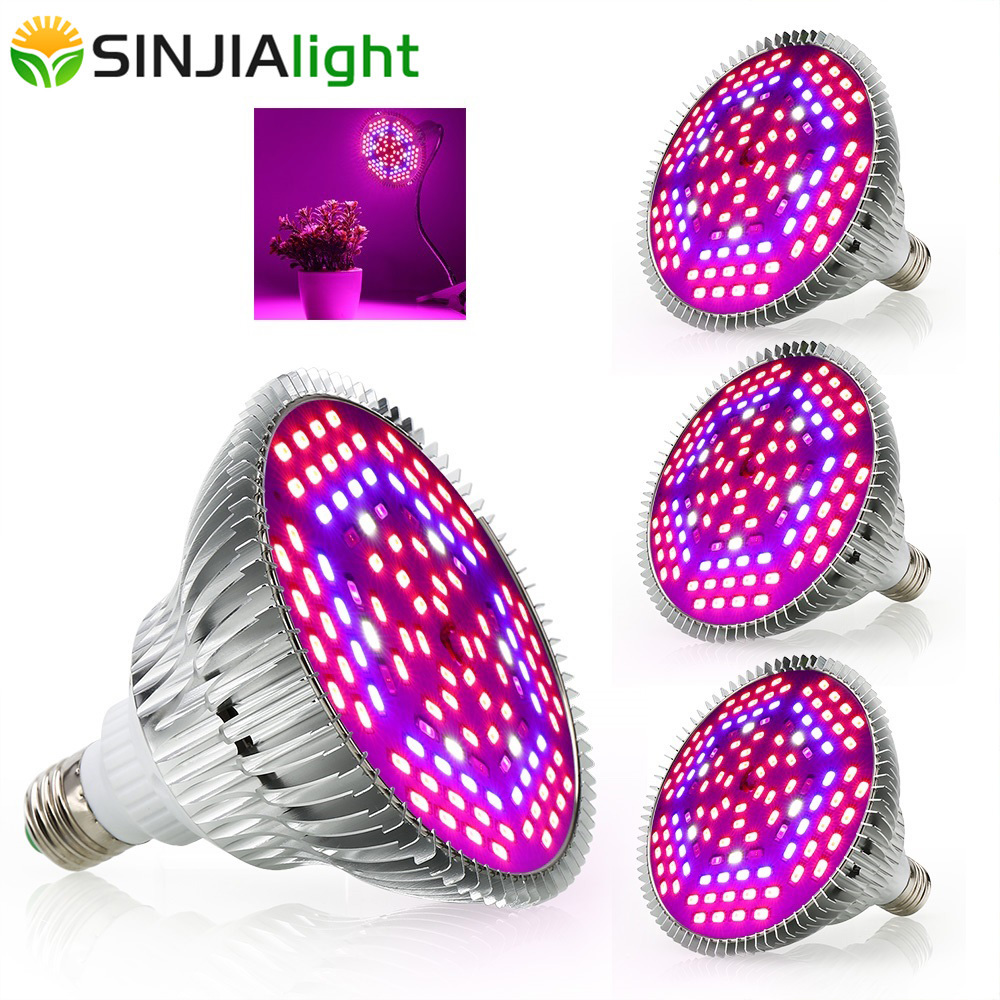 4pcs/lot Full Spectrum LED Grow Lights 30W 50W 80W Growth Lamp Phytolamps For Plants Flower Bulbs Aquarium Indoor Grow Box