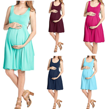 Summer Breastfeeding dress Sleeveless vest pregnant women breastfeeding pajamas skirt maternity Clothes