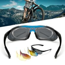 UV  Polarized Cycling Sun Glasses Outdoor Sports Bicycle Goggles очки Sunglasses Eyewear 5 Lens очки nike optics rabid p matte crystal mercury grey volt green polarized lens