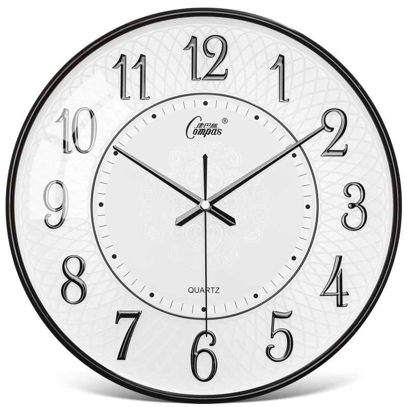 Nordic Silent Wall Clock Modern Vintage Round Glass Quartz Wall Clock Creative  Zegar Scienny Office