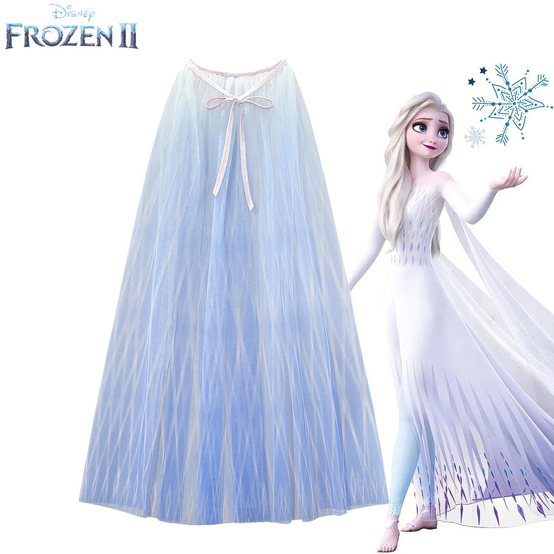 Frozen2 princesse soie cape Cosplay Aisha robe cape longue maille robe fille fête d'anniversaire meilleur cadeau