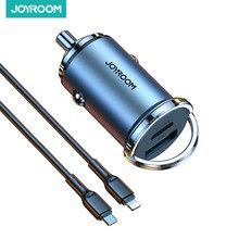 Joyroom – chargeur de voiture 20W USB rapide, Mini, avec QC 4.0 3.0, Type C PD, pour iPhone 12, Huawei, Xiaomi