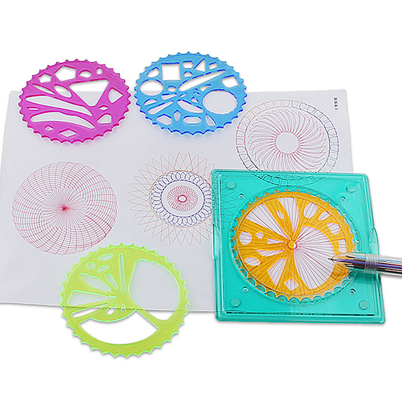 3332 Multi-functional Flexible Fantasy Spirograph Package Children Fine Art Creative Painted Template Funny Set