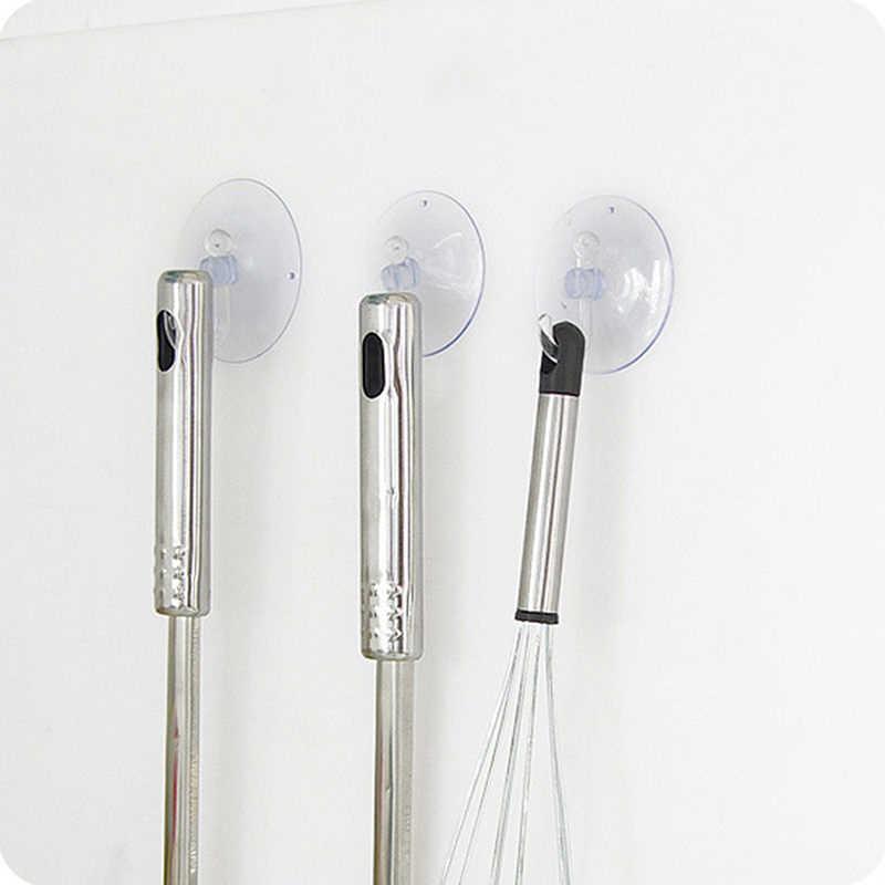 強力な透明吸盤吸盤ウォールフックハンガー任意の表面セット
