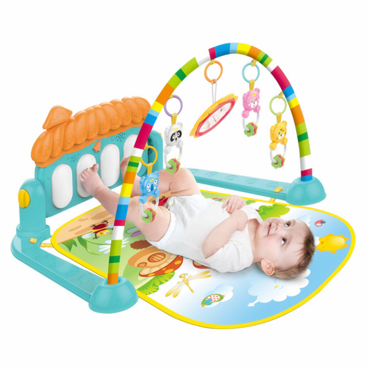 Infant Kick And Play Piano Gym Mat Maker Multi-functional Early Childhood Music Baby Creeping Mat Cross Border Amazon Toy