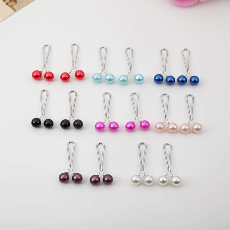 New 1pc/12pcs Hijab Clip Rhinestone Ball Scarf/shawl Clip Mix Color Scarves Crystal Shawl Pin Buckles Hair Accessories #2