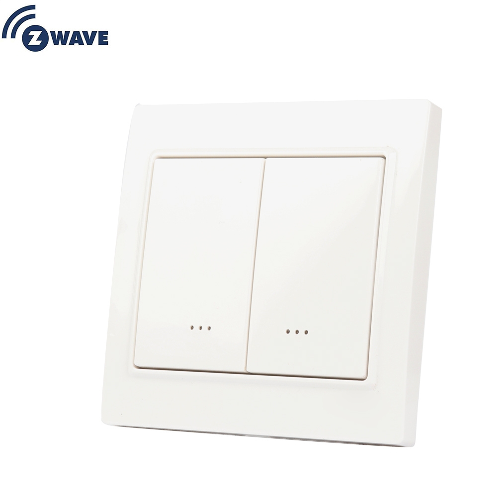 Haozee Z-Wave Smart Light Switch IN Wall Switch EU Frequency ON/OFF Switch With Dual Paddle EU 868.4MHZ