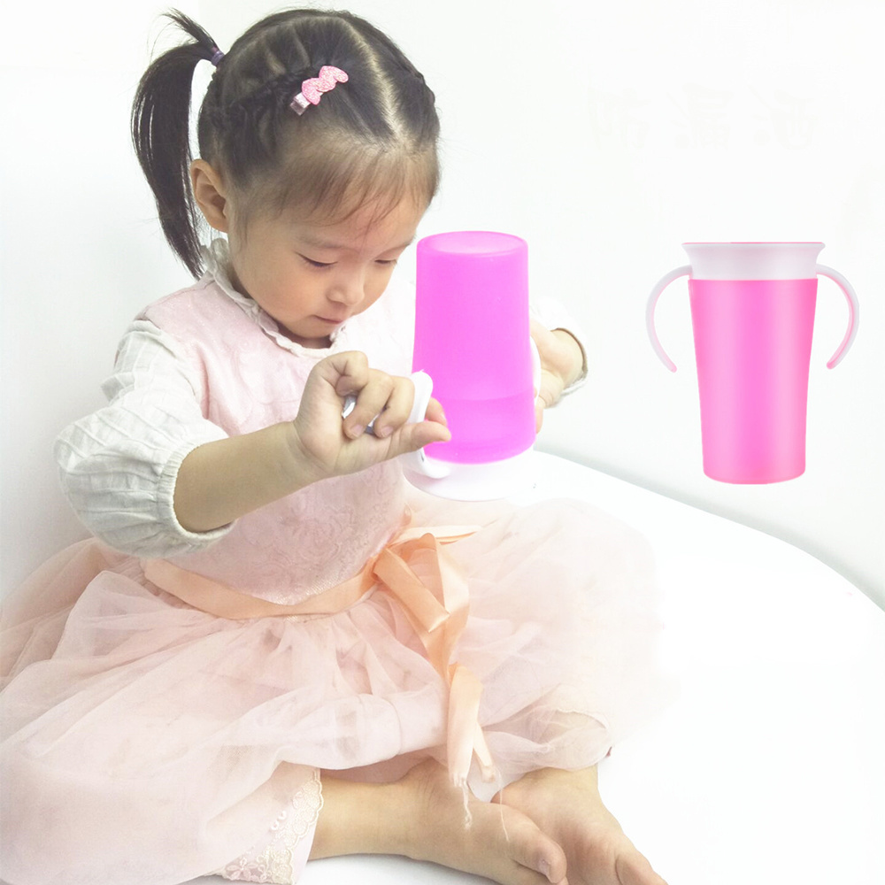Children Learn To Drink Cup 360 Degree Leak-proof Cup Student Baby Training Cup Magic Cup 250ml