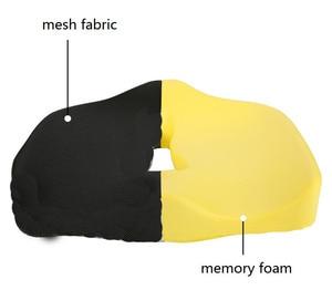 Image 3 - כיסא כרית עבור עצם הזנב כאב הקלה עצם הזנב כרית זיכרון קצף רשת בד נשלף אנטי להחליק יושב כרית טחורים