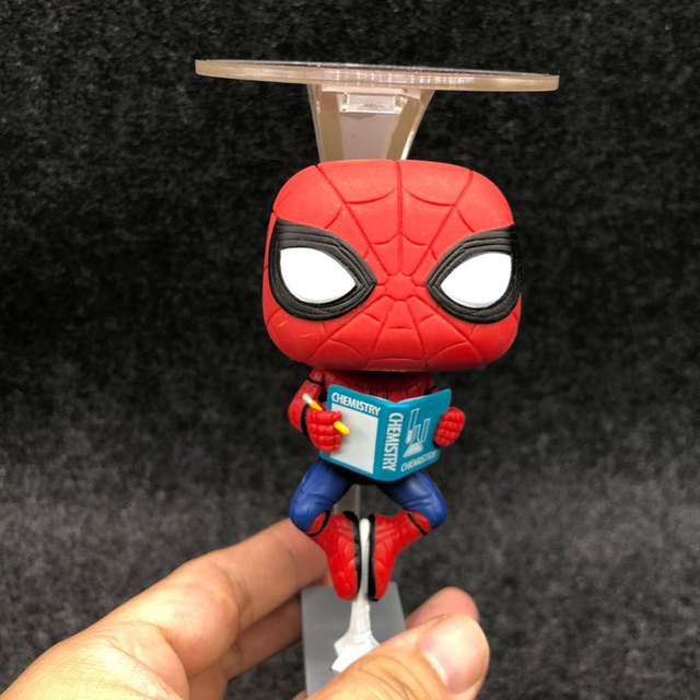 Marvel Avengers Spiderman 259 Hanging Reading Books Ver Spider Man Homecoming Figure Collection Vinyl Doll Model Toys