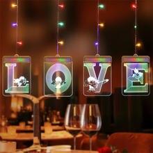 Usb гирлянда в виде сосулек Рождественская Подвесная лампа Хэллоуин