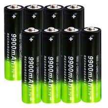 Batterie Rechargeable Li-ion, 3.7v, 18650 mah, pour lampe torche, 2 à 8 pièces, haute capacité