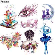 Prajna – autocollants Thermo pour vêtements, dessin animé, licorne, voiture, transfert de chaleur, hibou, papillon, fer sur transferts, t-shirt