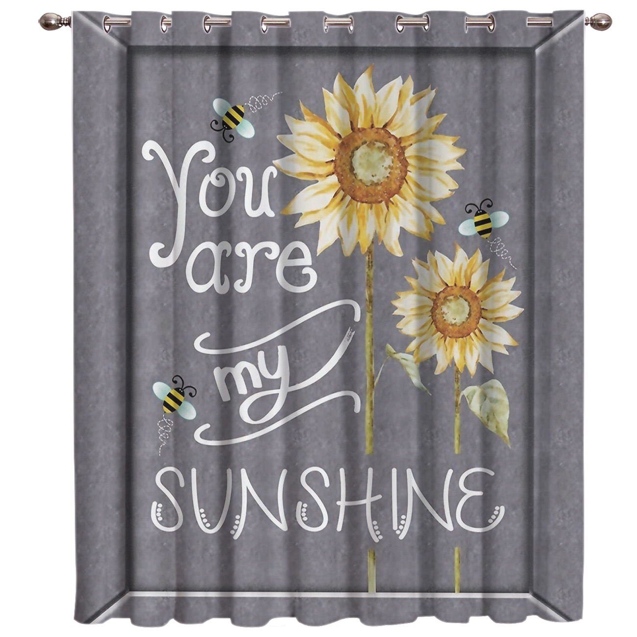 You Are My Sunshine Sunflower Window Treatments Curtains Valance Decor Bathroom Bedroom Swag Curtain Panels With Grommets