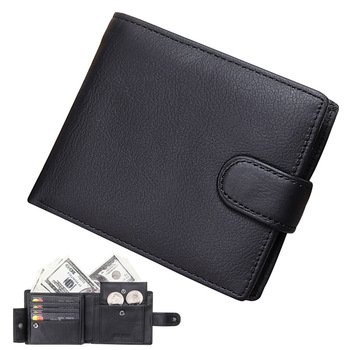 Mens Wallet Genuine Leather Wallets Men Brief Design Business Slim Credit Card Holders Hasp Clutch Purse with Coin Pocket Male free shipping harry potter sherlock rick and morty wallet credit oyster license card men s purse with coin pocket