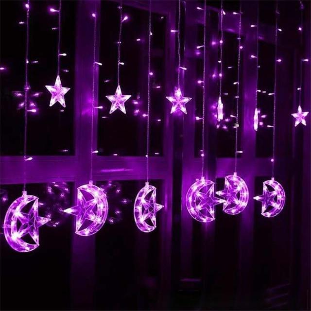25 м звездный лунный занавес гирлянда для дома гостиницы спальни фотография