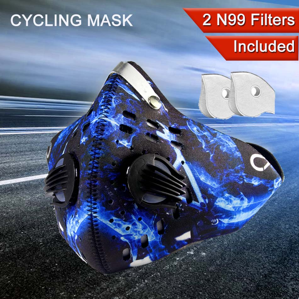 GLORSUN Riding Mask Fashion Custom Smog Pm2.5 Air Filter Motorcycle Biker Half Face Breathing Anti Dust N99 Carbon Filter Mask
