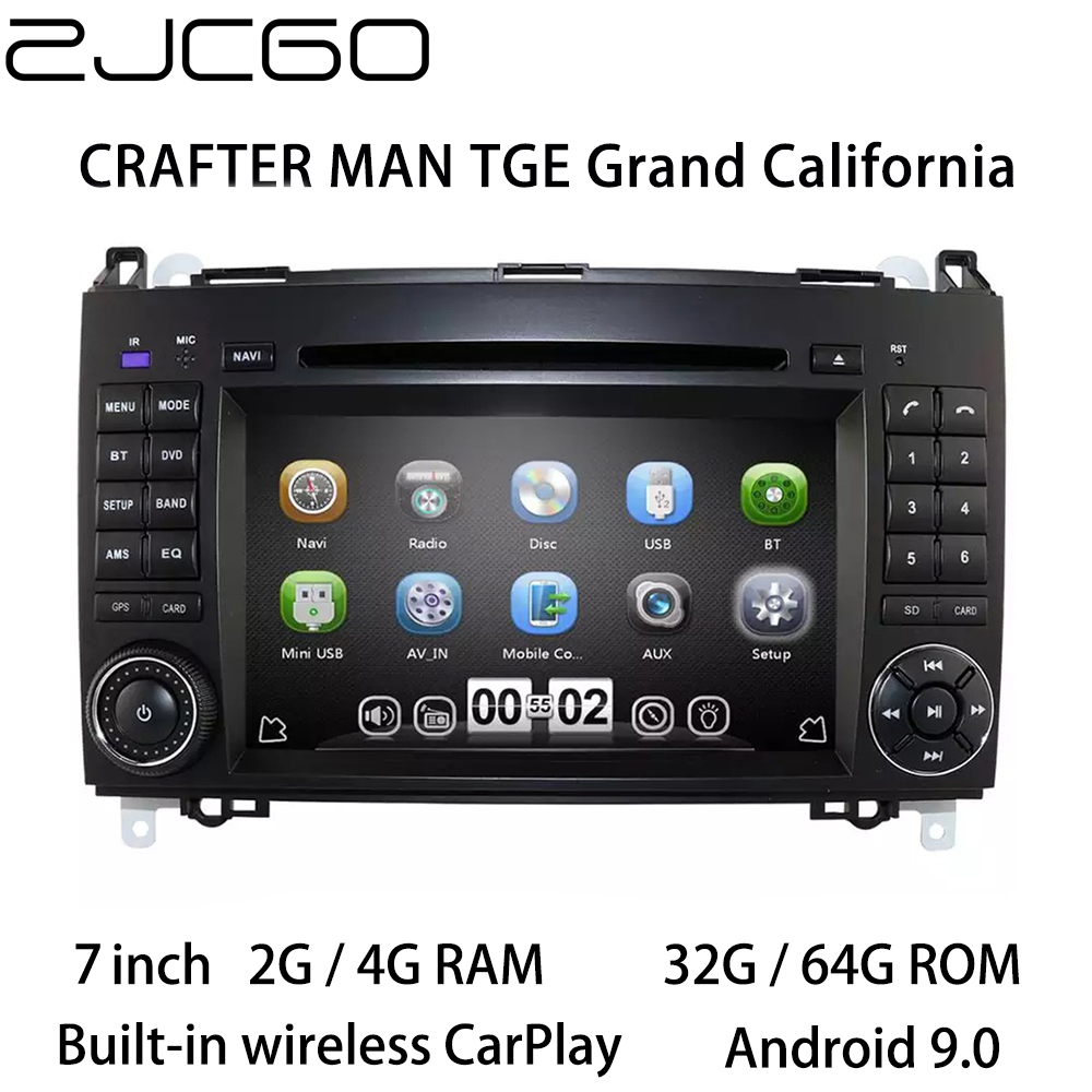 Auto Multimedia-Player Stereo GPS DVD Radio Navigation Android Bildschirm fü<font><b>r</b></font> Volkswagen <font><b>CRAFTER</b></font> MANN TGE Grand California 2006 ~ 2015 image
