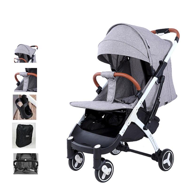 YOYAplus Portable Baby Stroller 3 High Landscape Reclining Pram Cart Infant Baby Small Size Trolley Case Design Stroller Carrier
