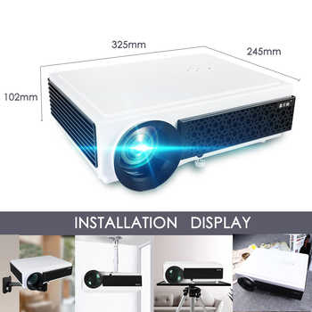 Poner Saund 96Plus LED Projector Full HD 1080P Android Projector Wifi 3D Video Smart for Home Theater Free Gifts Proyector Hdmi