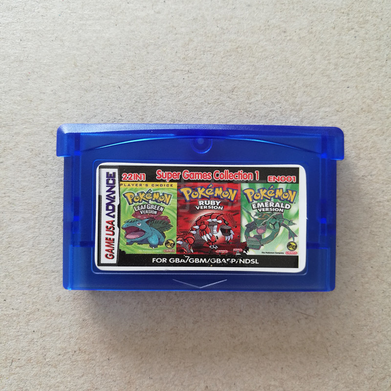 Pokemon GBC Games  Classic Game Collect Colorful Version English Language22 In1 GBA Games Heka English Version English Language