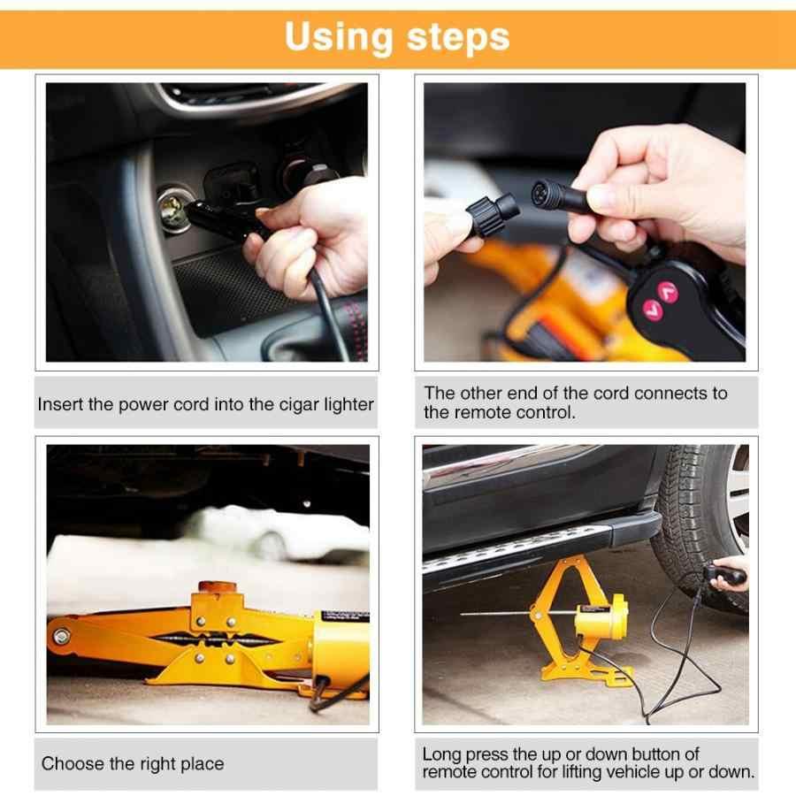 Jacke 2 Ton 12V DC Automotive Auto Automatische Elektrische Krik Garage en Emergency Apparatuur Auto Lifting Reparatie Tools kit