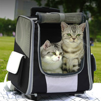 Large Space Cat Backpack Breathable Portable Cats Transport Bag Outdoor Travel Transporter Sac Transport Chat Pet Carrier AC50CB