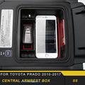Для Toyota Prado 2010-2019 автомобильный Стайлинг центральный подлокотник ящик для хранения аксессуары для интерьера