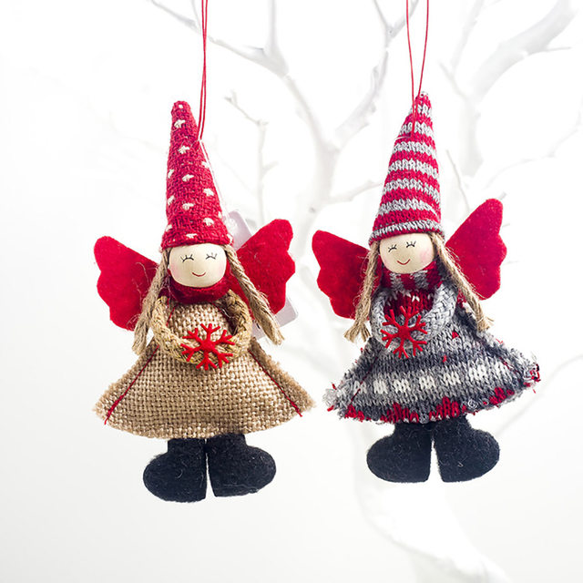 1pcs Angel Doll Pendants Christmas Hanging Ornaments Small Gift for New Year Xmas Party Decoration Baubles SA146 15