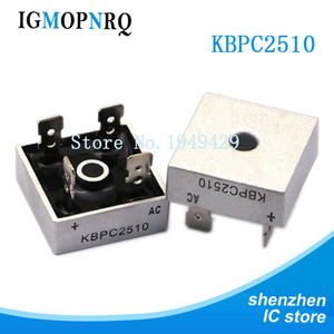 2PCS/LOT KBPC2510 25A 1000V DIP Diode Bridge Rectifier Original Free Shipping