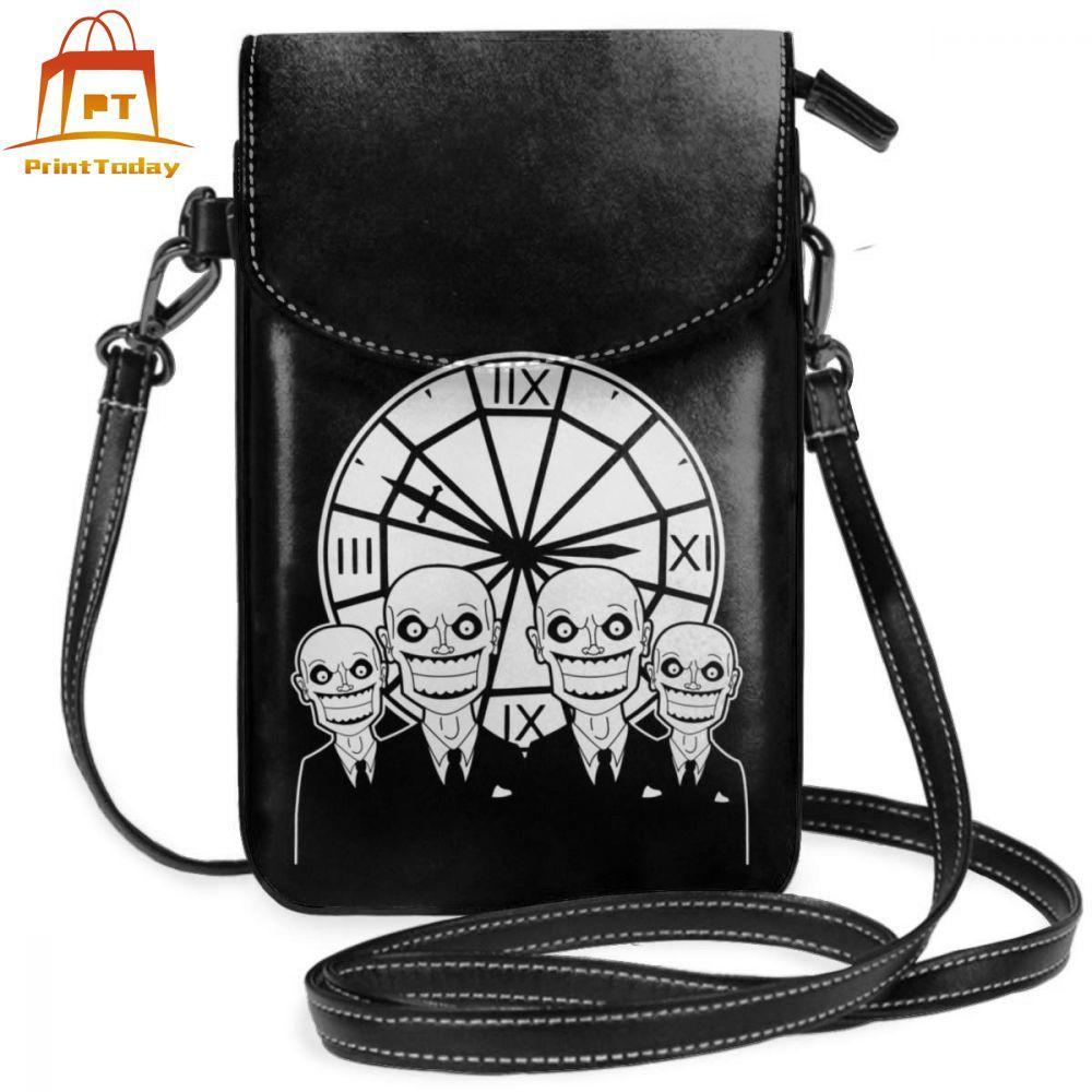 Monster Shoulder Bag The Gentlemen Clocktower Leather Bag Trend Print Women Bags Mini Teen Street Print Multifunctional Purse