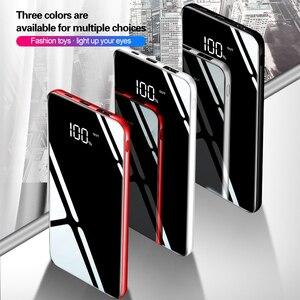 Image 5 - 10000mAh moc banku dla Xiaomi przenośna ładowarka banku lustro telefonu telefony komórkowe z 10000 Mah Micro Usb typ C zewnętrzna bateria