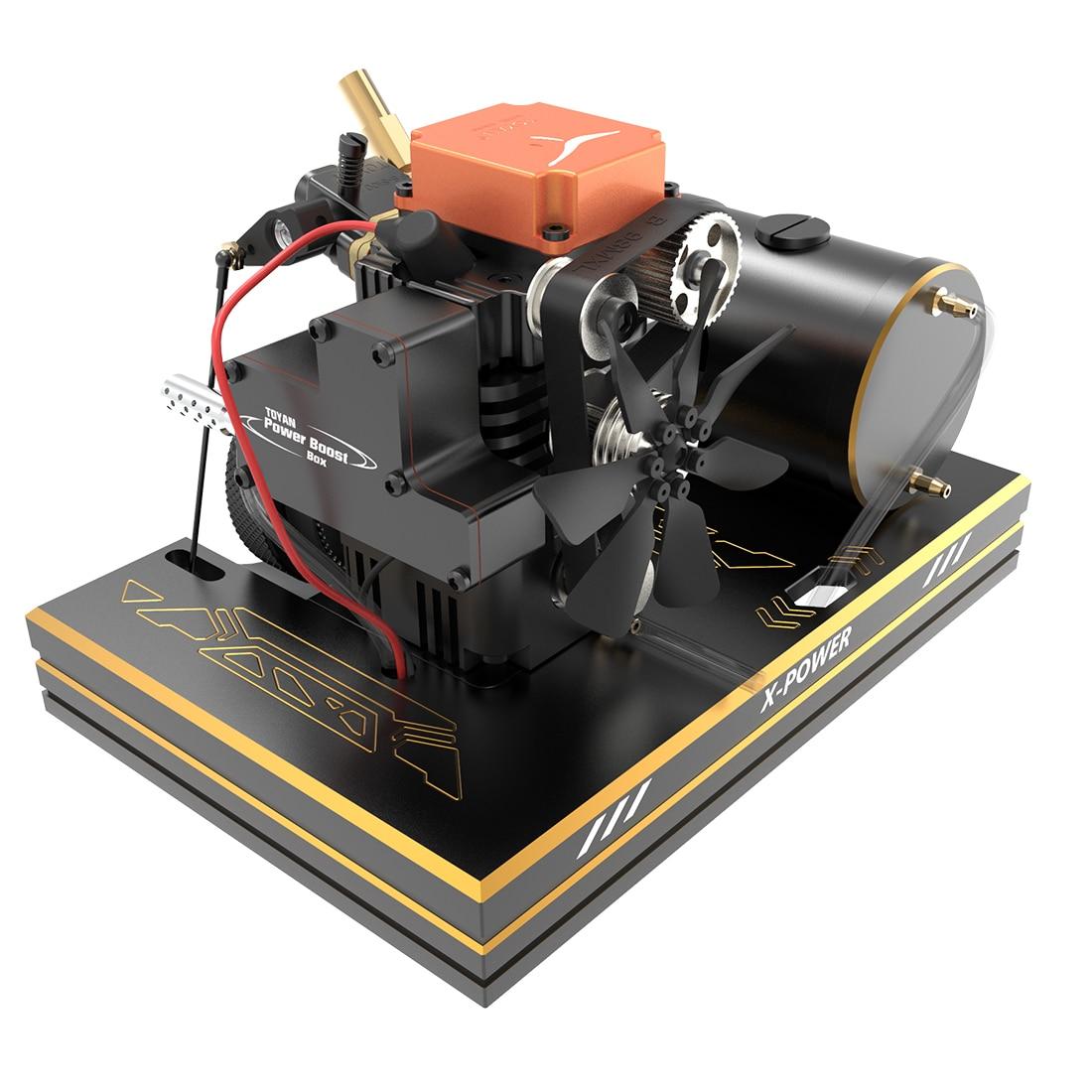 Toyan четырехтактный FS-S100A для метанола, комплект двигателя с базовым топливным баком, батарейка, пусковая головка ESC с горячей головкой, колпа...