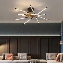 Nouveau LED lustre plafond moderne pour 2020 salon salle à manger cuisine chambre lumières noir or cadre réglable pendentif lampe