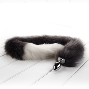 Smooth Multi Feather Toys Long Fox Tail Cosplay Sex Adult Accessories Metal Plug Anal Plug Sex Toy Flirting Animal Role Play