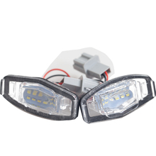 1 Pair For Honda Civic City Legend Accord Acura Car LED Number License Plate Light Lamp Car Styling White Highlight Rear Lamp 2x led license plate light 18 leds number plate lamp for honda civic accord odyssey pilot acura tl tsx mdx white light