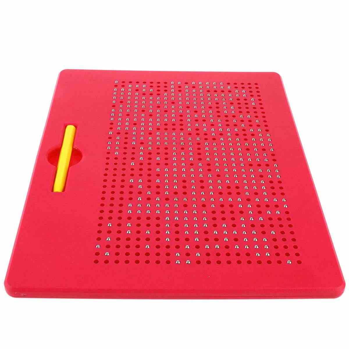 33.5x25.5 ซม.แท็บเล็ตแม่เหล็กแท็บเล็ตกระดานวาดภาพลูกปัดเหล็กปากกา Stylus การเรียนรู้การศึกษาการเขียนของเล่นสำหรับเด็กของขวัญ