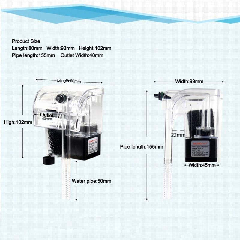 Waterfall Hang On External Oxygen Pump Water Filter For Aquarium Fish Tank