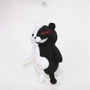 Image 3 - Jouet en peluche 35cm, pour accompagner le dessin animé japonais Super 2, ours en peluche doux, Monokuma noir et blanc, poupées, cadeau de noël