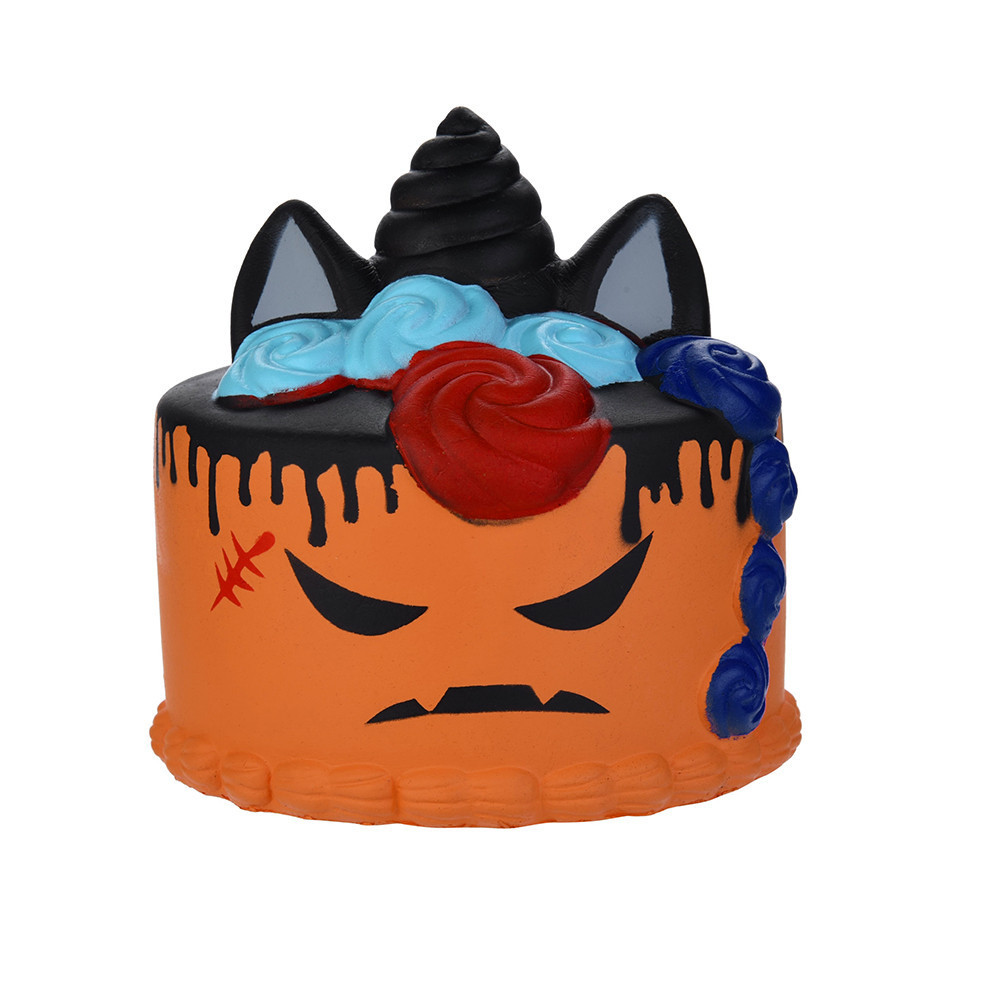 Cartoon Demon Cake Squishies Slow Rising Kids Toys Squeeze Relieves Stress Anxiety To Adult Soft PU Cake Antistrees Toys #B