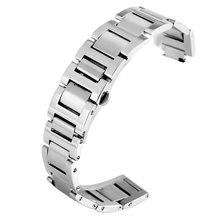 Ремешок из нержавеющей стали для наручных часов скрытая застежка
