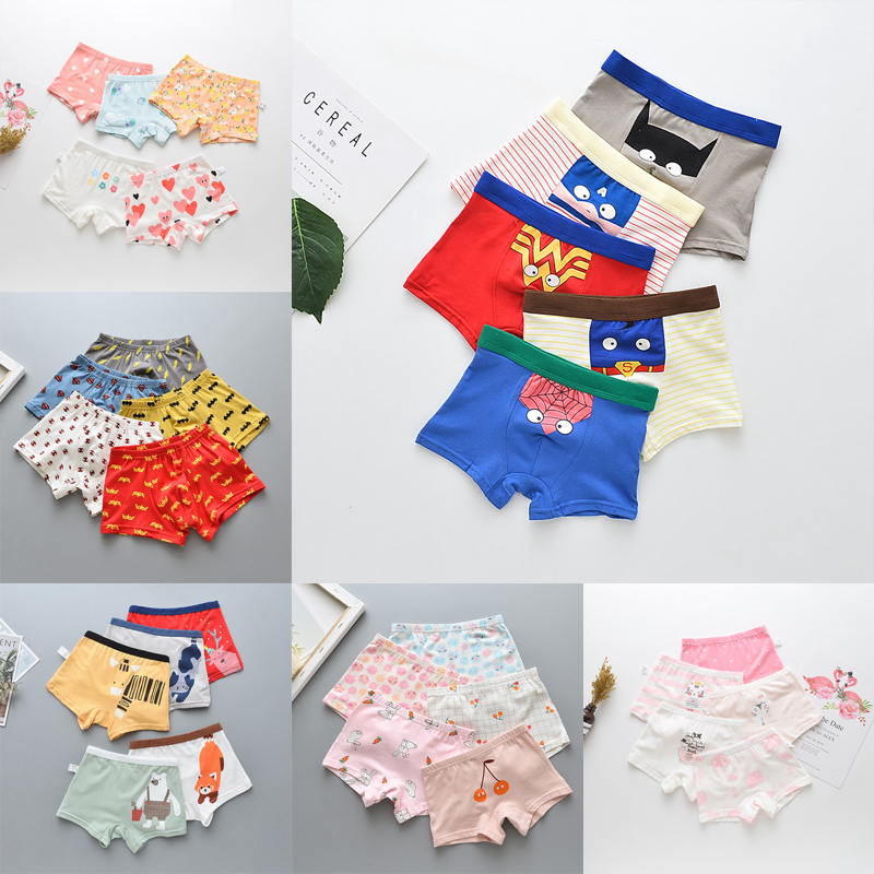 5 Pcs/lot Briefs For Boys Kids Underwears Panties Girl Panty Cotton Children Boxer Baby Underpants Girls Underwear Child Cartoon