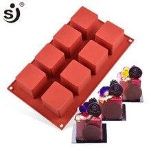 Sj 3d rubik cubo mouse silicone molde do bolo de chocolate decoração ferramentas de cozimento moldes de silicone forma bandeja bakeware de silicone