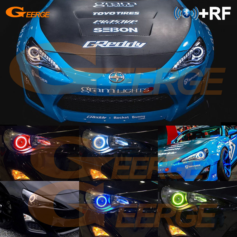 RF Remote Bluetooth APP Multi-Color Ultra Bright RGB LED Angel Eyes Kit For Toyota FT GT 86 GT86 FT86 2013 2014 2015 2016