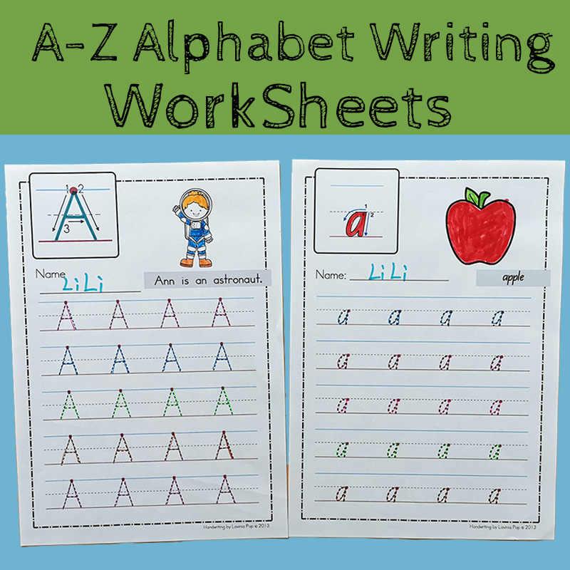 26 Letters A Z Alphabet ABC Practice Paper Preschool Learning English  Homework Writing Exercise Book Kindergarten Pre School- AliExpress