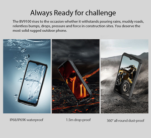 "Image 5 - Blackview BV9100 Android 9.0 Phone 6.3"" Screen Smartphone IP68 Rugged MT6765 Octa Core 4GB+64GB 13000mAh Battery 30W Fast Charge"