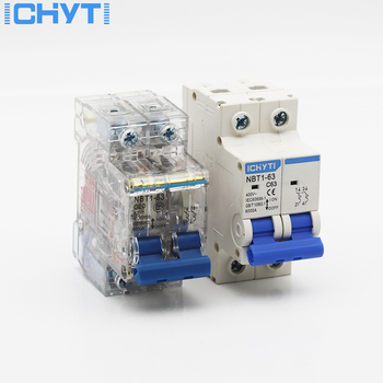 ICHTYI 220v/400V 2P 6A/10A/16A/20A/25A/32A/40A/50A/63A Transparent shell Air switch Household miniature circuit breaker MCB недорого